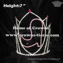 7inch Cowboy Boot Crystal Pageant Crowns