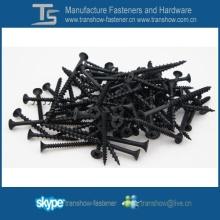 C1022 Steel Hardend Tornillo de yeso barato fosfatado negro