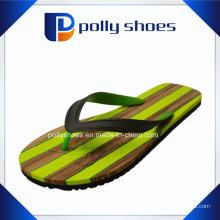 Sandales plates à bride arrière vertes pour hommes Nouveau