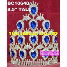 Cumpleaños plateado rhinestone gran concurso de cristal tiaras