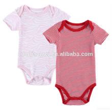 Europäischen Markt neue Design rot und weiß Strampelanzug Baby Kleidung Kinder Baby Anzug Print Stripped Baby Strampler
