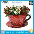 Teacup Garden Plant Pots Ceramic Outdoor Large Flower Pots Flowerpot