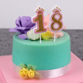 Cute Crown shape number birthday candle for children