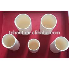 Toho Venta caliente Porcelana cerámica Cilíndrico Crisol de cerámica