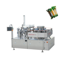 Automatic Rotary Premade Bag Vacuum Filling And Packaging Machine For Corn Stick With Water