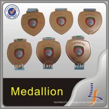 Médaille de récompense de souvenir de cuivre de 80mm