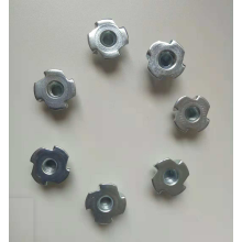 White zinc plated round tee nut