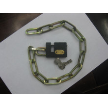 Square Chain with Iron Lock