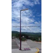 Luz de calle solar con poste