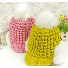Beanie / Crochet Da Borda Da Curva Da Lingua Do Pato. Chapéu de malha / boné (K-15)