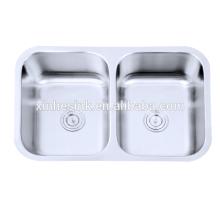 Küchenschüsseln des Edelstahl-304 doppelte Schüssel-Küche