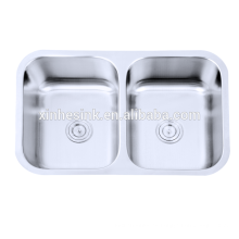 Fregaderos comerciales de la cocina del cuenco doble del acero inoxidable 304