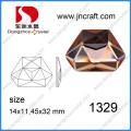 11X14mm Irregular plana cristal Abck pedrería de cristal para decoraciones