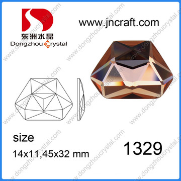 Flat Abck Cristal Irregular 11X14mm Crystal Rhinestones para Decorações