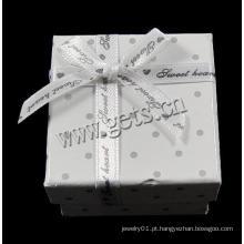 Anel solitário de diamante de ouro branco de cartão Gets.com