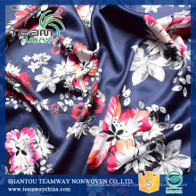 printed 100% polyester stain fabric for Dress