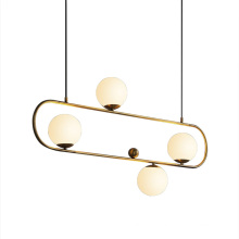 Home Deco Hanging glass ball gold metal pendant lamp dinning room chandelier