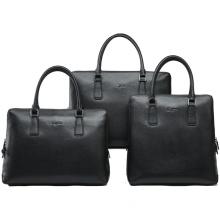 Men's Black Durable Leather Laptop Bag Briefcase (26113-745)