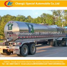 Água fresca do leite da preservação de calor de 2 eixos de aço inoxidável ou do líquido reboque semi