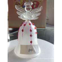 Handing Glass Angel Bell Ornamente