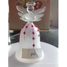 Anjo de vidro de entrega ornamento