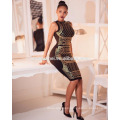 New Fashion 2017 Sleeveless Round Neck Sexy Hot Drilling One piece Dress New Fashion Ladies Boutique Dresses