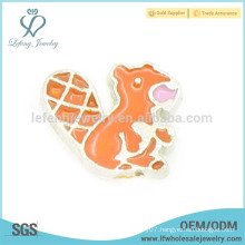 Zinc alloy small animal charms for lockets,cute kawaii squirrel charms