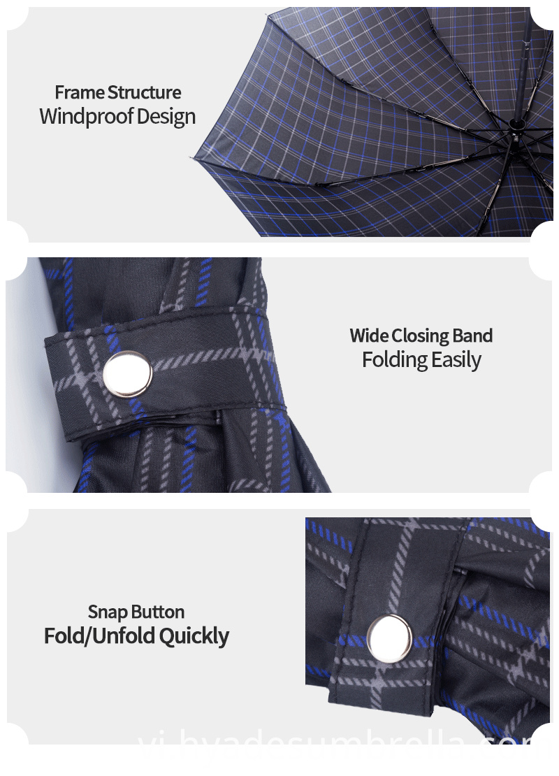 Product Descrption Page Print Check 3 Folding Umbrella Easy To Fold