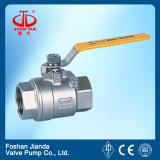 stainless steel 2pc ball valve threaded