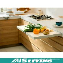 Muebles de gabinetes de cocina de melamina Hmr venta por mayor gratis muestra (AIS-K988)