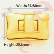 Arc-Rectangle Turn Lock for Handbag Use