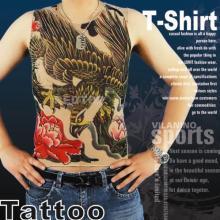 High quality tattoo t-shirt sleeveless