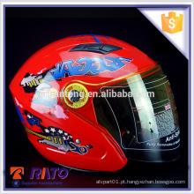 2016 novo capacete ABS com motocross vermelho de rosto cheio