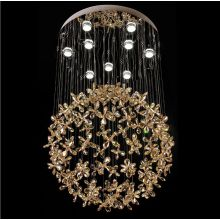 european luxury chandelier flowers pendant lamp