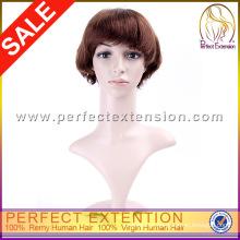 Perucas de cabelo humano puro loiro morango novo estilo Tina Turner
