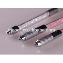 Pluma del tatuaje de la ceja de la alta calidad para el maquillaje permanente microblading, herramientas manuales de la mano del microfibra del bordado