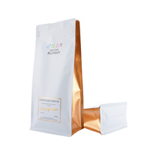 Custom Printing Resealable Zipper Matte Glossy 340g 500g Box Bottom Pouches Square Bottom Side Gusset Bag for Coffee Cat Food Packaging