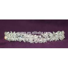 Mini descuento de la moda de encargo de la boda tiara brillante corona de cristal nupcial