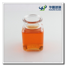 Square Glass Storage Jar 150ml Glassware