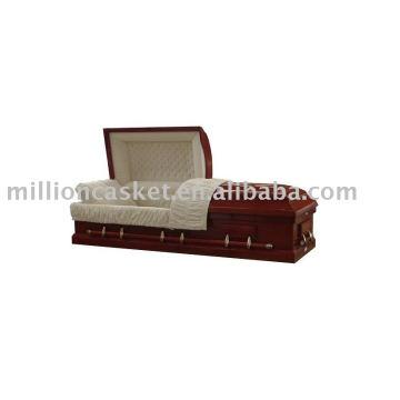 Mahogany veneer casket