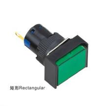 D16-H3g0l 16mm Rectangular LED Fuente de luz fría Indicador de la lámpara de señal