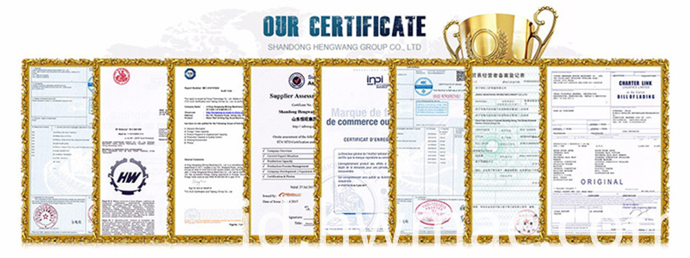 certificate for mini excavator