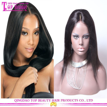 Cheap Brazilian 100% Silk Base Human Hair Wig, Glueless Full Lace Wig With Silk Top