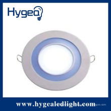 Painel de iluminação de escritório LED redondo de alta luminosidade com três cores