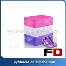 Clear transparent plastic box plastic pvc box injection mould for shoe