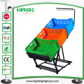 Supermaket Store Metal Fruit Vegetable Display Rack con Basket