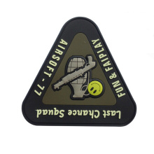 New Fashion Big Custom Rubber Patch For Uniform Wholesale