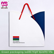advertising logo customized fashion transparent paper trash bag