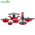 Forgred Metallic Painting Aluminum Safety Cookware Items