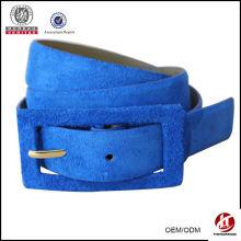 Натуральная кожа ремень, 2014 новый мода ремень, голубой кожаный ремень